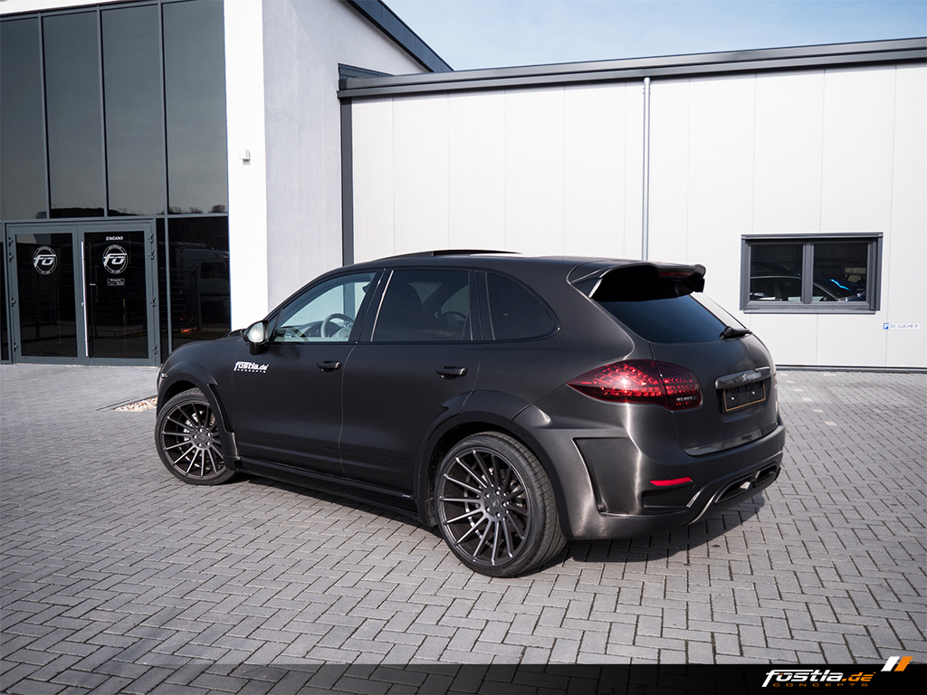 S HAMANN GUARDIAN EVO Vollfolierung Tuning 22 Zoll ANNIVERSARY EVO II GRAPHITE GREY Concave Felgen Wheels Auspuff Car Wrapping Brushed Black (12).jpg