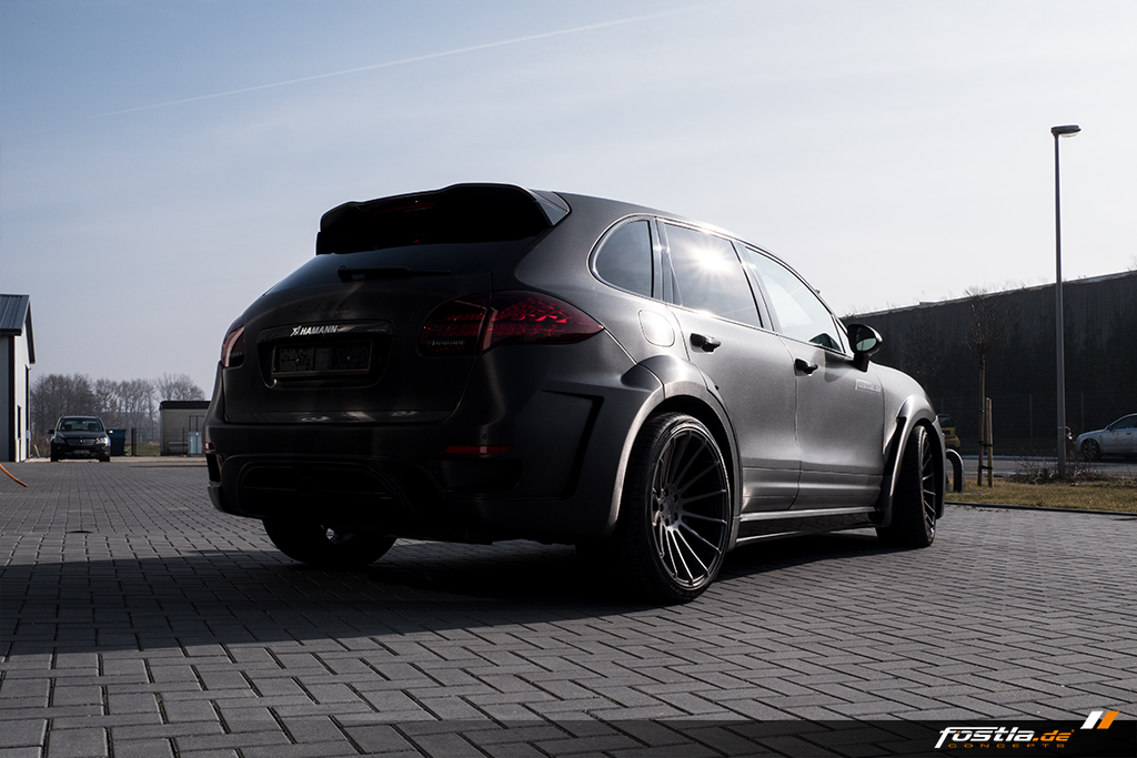 S HAMANN GUARDIAN EVO Vollfolierung Tuning 22 Zoll ANNIVERSARY EVO II GRAPHITE GREY Concave Felgen Wheels Auspuff Car Wrapping Brushed Black (4).jpg