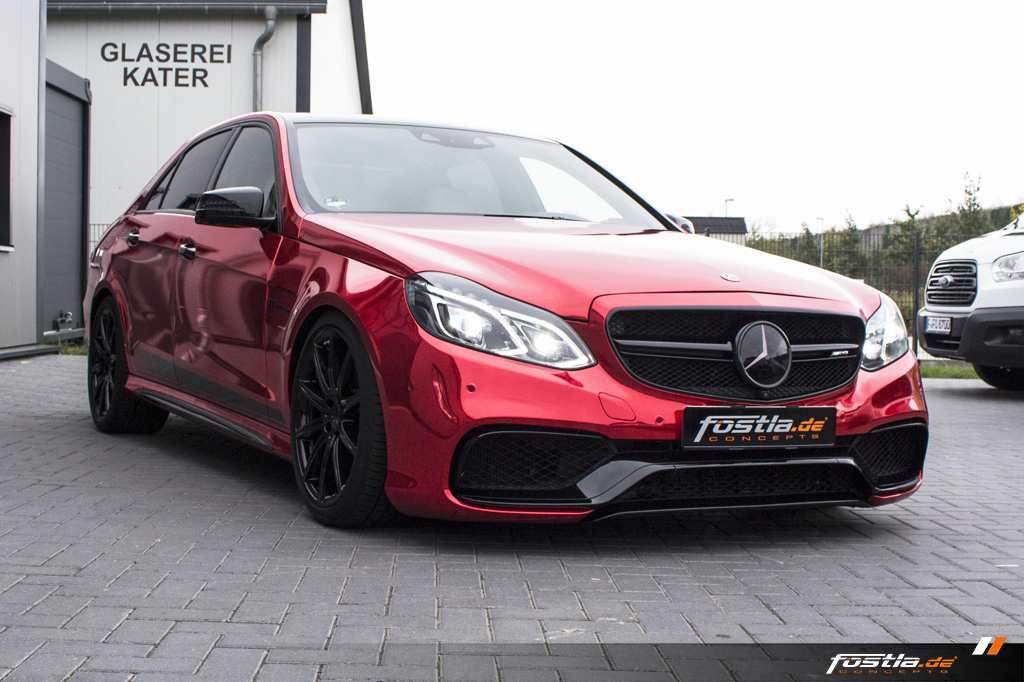 Mercedes-Benz E63 AMG S 4MATIC W212 Chrome Rot Edition One Streifen Car-Wrapping Vollfolierung Folieren Hannover (23).jpg