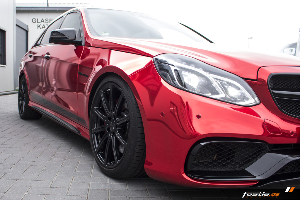Mercedes-Benz E63 AMG S 4MATIC W212 Chrome Rot Edition One Streifen Car-Wrapping Vollfolierung Folieren Hannover (6).jpg