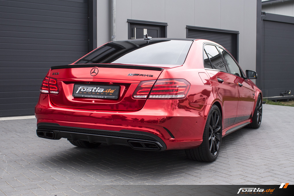 Mercedes-Benz E63 AMG S 4MATIC W212 Chrome Rot Edition One Streifen Car-Wrapping Vollfolierung Folieren Hannover (7).jpg