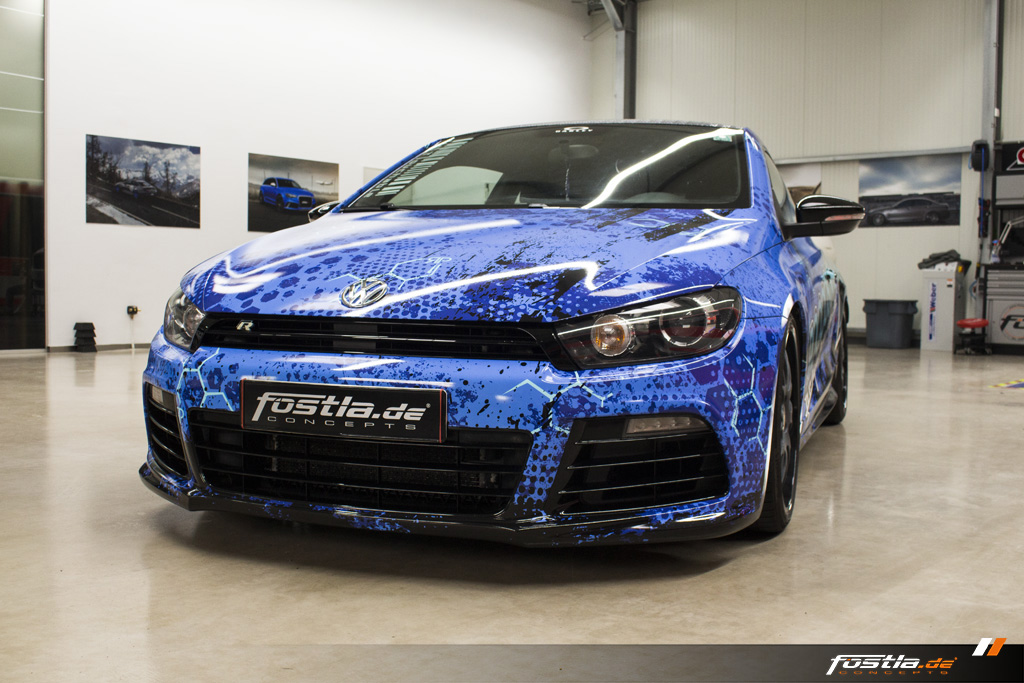 VW Scirocco R-Line Design-Folierung BBS Blau Car Wrapping Vollfolierung 2.jpg