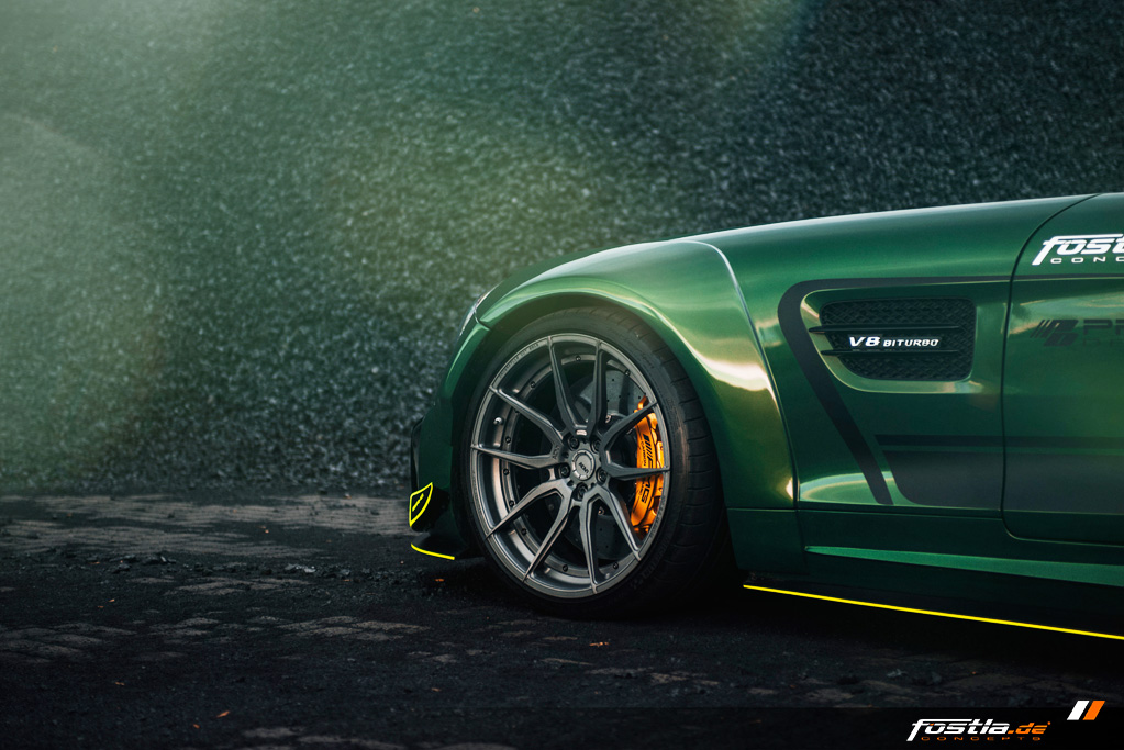 Mercedes AMG GT Prior-Design Widebody-Aerodynamik-Kit Malachite Green Vollfolierung Hannover (15).jpg