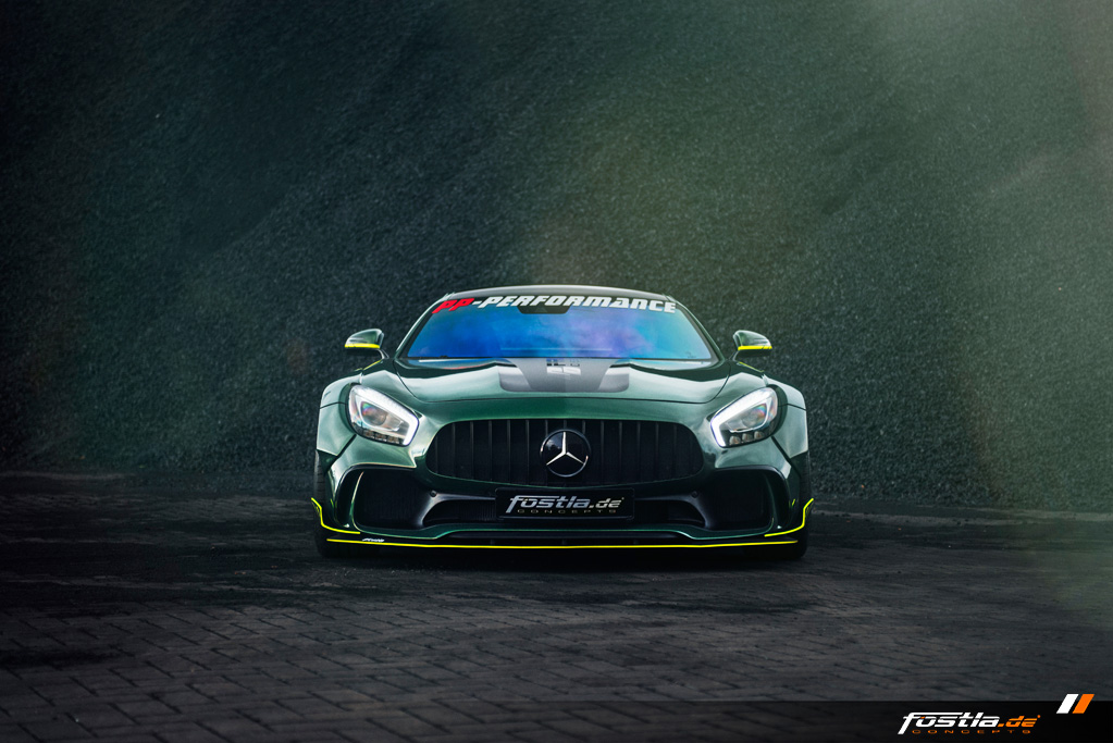 Mercedes AMG GT Prior-Design Widebody-Aerodynamik-Kit Malachite Green Vollfolierung Hannover (7).jpg