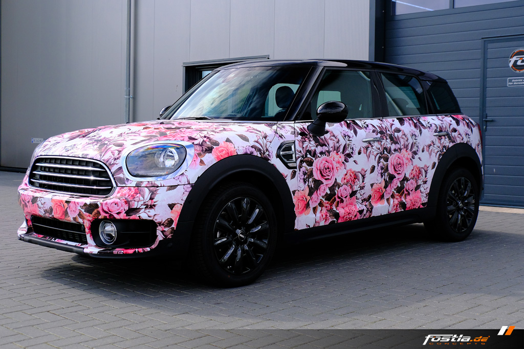 Mini Cooper Countryman F60 Flower Design Pink Vollfolierung Digitaldruck Hannover (10).jpg