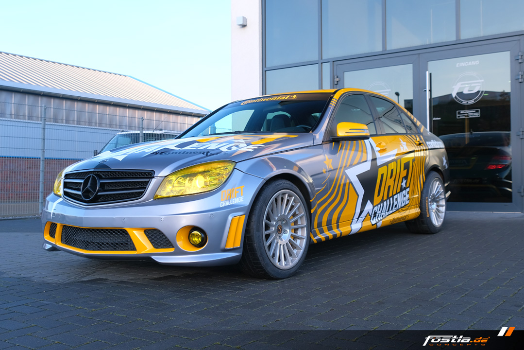Mercedes-Benz C63 AMG W204 Continental Drift Challenge Race Car Vollfolierung Design Motorsport (1).jpg